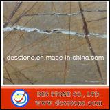 Azulejo de la losa del mármol del amarillo del oro de la raíz del árbol (DES-MT020)