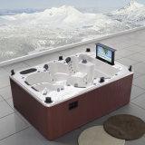 Outdoor 6 Seat USA Balboa SPA Whirlpool Hot Tub com TV, WiFi para Jacuzzi Função