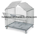 Contenedor de malla de alambre plegable/ de la jaula de almacenamiento apilable
