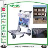 karren de met 4 wielen van het Karretje van de Bagage van de Luchthaven van de Handrem
