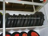 Drei Rad-Motorrad-Reifen und Gefäß