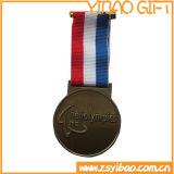 Hot Sale souvenir personnalisé de haute qualité en métal médaille avec cordon (YB-M-019)