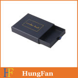 Conjunto de encargo que resbala el rectángulo de papel de empaquetado del regalo de la joyería del rectángulo del cajón