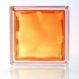 Chine Chambre belle décoration orange rouge brique de verre ...
