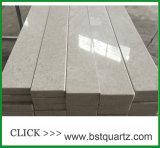 Dessus de cuisine de pierre de quartz de chassoir de 6131 Bianco contre-