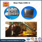 Piatto resistente all'uso placcato d'acciaio composto di Corc-G per lo scivolamento della fodera