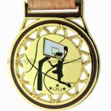 Medailles van het Brons van het basketbal de Gouden Zilveren voor de 1st 2ND 3de Toekenning van de Plaats, het Lint van Themed van het Basketbal
