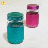 435ml終わる着色されたきらめきのガラス記憶の瓶