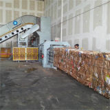 Boa qualidade de tripla acção automática Enfardadeira de fardos de papel hidráulico Horizontal