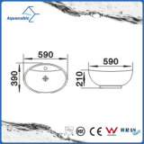 Dispersore di lavaggio del Governo del bacino di ceramica di arte e della mano superiore di vanità (ACB8001)