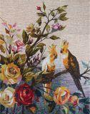 Imagem de mosaico de arte de corte de mão e pássaro de estilo chinês (CFD126)