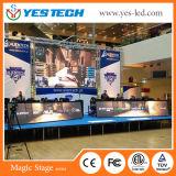 Estadio a todo color LED que hace publicidad de la pantalla de visualización de la muestra