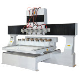 Grabado 3D, 8 multi-husillos, carpintería Router CNC de 4 ejes