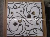 Chorro de agua medallón de mármol del mosaico Mosaico