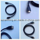 Tipo de cable HDMI al por mayor de un macho a macho chapado en oro de 1,4 V