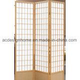 Schermo dello Shoji delle 3 sezioni & divisori pieganti di legno semplici normali classici nello stile giapponese cinese