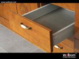 Mobilia su ordinazione all'ingrosso moderna del portello dell'armadio da cucina di Hangzhou di legno solido della noce di Welbom