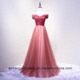 Платье вечера Пол-Длины шеи шлюпки lhbim банкета невесты шнурка женщин