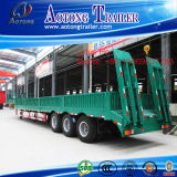 Saleのための工場Supplier Steel Material 3アレックス60t Low Bed Semi Trailer