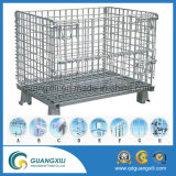 Wheels Container를 가진 접히는 Metal Stacked Wire Mesh