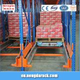 Rack de stockage en métal avec rack de la navette pour l'entrepôt