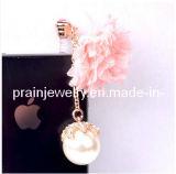 Forma de Flor de la perla colgante de guardapolvos para Smart Phone de joyería de moda de primavera de 2013 elementos de la Moda (Pip-007).
