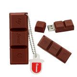 Chocolate doce do amor dos desenhos animados da movimentação do USB do flash