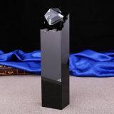 Трофей пожалования Jingyage черный кристаллический с подарками сувенира диаманта