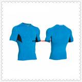 Salle de gym de haute qualité Mens T Shirt de l'exécution prise en charge la compression personnalisé Shirt de sport