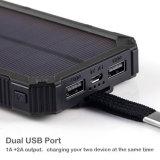 banco portátil ao ar livre móvel universal da potência 10000mAh solar