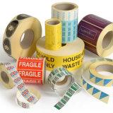 La coutume de qualité a estampé le collant de papier d'étiquettes