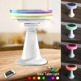 Свет дистанционного управления стола малого домашнего изменения солнечный СИД цвета RGB декора для штанги/сада/парка