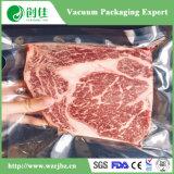 Saco de vácuo transparente elevado da carne