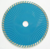 Consolidar el diamante de la onda de Turbo vio la lámina para el corte de cerámica, concreto, de mármol, el granito y el asfalto