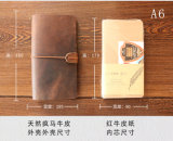 Journal de voyage en cuir véritable, Crazy Horse Carnet de notes de cuir, les ordinateurs portables