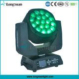 찌꺼기 1에서 큰 눈 19PCS 15W LED 이동하는 맨 위 빛 RGBW 4