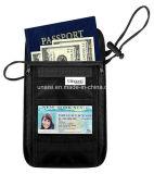 Carteira Obstruir-Escondida do suporte RFID do passaporte com cinta da garganta
