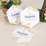 OEM em forma hexagonal de Montanha Russa de beber cerveja Montanha Russa de papel absorvente (YH-DC026)