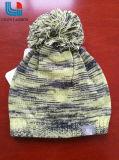Модные теплые трикотажные шапки с шерсти мяч на общую