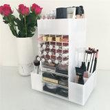 De roterende Organisator van de Make-up van de Vertoning van de Toren van de Lippenstift Acryl Spinnende