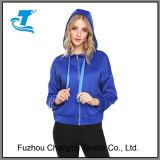 Легкий женщин кулиской колпачковая Спортивные куртки