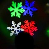 크리스마스 훈장 영사기 단계 점화 RGB 눈송이