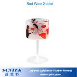 昇華ブランクマットのガラス赤ワインのゴブレット