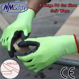 Nmsafety doux enduit à base de nitrile gant de travail de la sécurité de protection de coupe