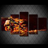 5 PCS/Set gestalteten HD gedruckte Valentino Rossi Bewegungswand-Kunst-Segeltuch-Abbildungen für Wohnzimmer-Schlafzimmer-Ausgangsdekor-Segeltuch-Farbanstrich