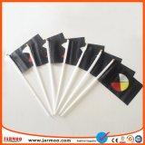 デジタル印刷のフットボールクラブワールドカップの手持ち型の棒のフラグ