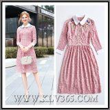 Высокое качество леди мода кружева платья