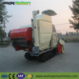 La trilla de trigo doble agrícolas de arroz paddy cosechadora de oruga