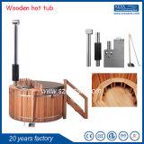 屋外の鉱泉の温水浴槽の赤いヒマラヤスギの木の円形の温水浴槽20年の工場