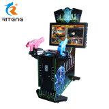 Video simulatore del gioco dell'interno della fucilazione con lo spingitoio della moneta